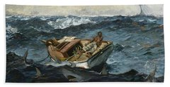 The Gulf Stream Hand Towel by Winslow Homer