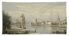 The Harbor Of La Rochelle Bath Towel