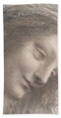 The Head Of The Virgin In Three-quarter View Facing Right Bath Towel