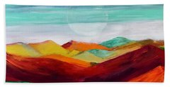 Bath Towel featuring the painting The Hills Are Alive by Kim Nelson