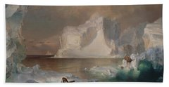 The Icebergs Bath Towel by Frederic Edwin Church
