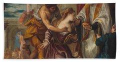 The Martyrdom And Last Communion Of Saint Lucy Bath Towel