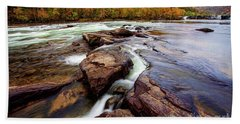 The New River At Sandstone Falls Hand Towel