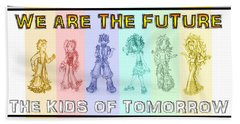 Bath Towel featuring the drawing The Proud Kids Of Tomorrow 3 by Shawn Dall