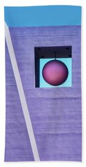 The Purple Tower At Pershing Square Hand Towel by Gary Slawsky