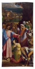 The Raising Of Lazarus Hand Towel