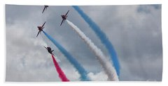 The Red Arrows Hand Towel by Nichola Denny