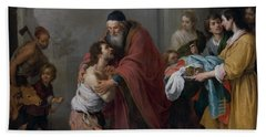 The Return Of The Prodigal Son Bath Towel by Bartolome Esteban Murillo