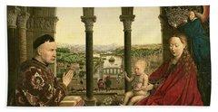 The Rolin Madonna Hand Towel by Jan van Eyck