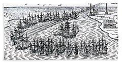 The Spanish Armada Hand Towel