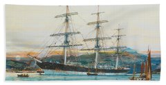 The Square-rigged Australian Clipper Old Kensington Lying On Her Mooring Bath Towel