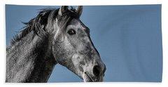 The Stallion Hand Towel by Michael Mogensen