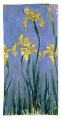 The Yellow Irises Bath Towel