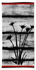 Thistles By The Barn Bath Towel