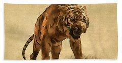 Tiger Bath Towel by Sergey Lukashin