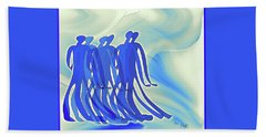 Together Again Hand Towel by Iris Gelbart