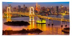 Tokyo - Japan Hand Towel by Luciano Mortula