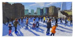 Tower Of London Ice Rink Hand Towel