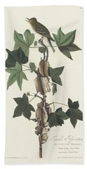 Traill's Flycatcher Hand Towel by John James Audubon
