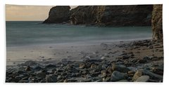 Hand Towel featuring the photograph Trevellas Cove by Brian Roscorla