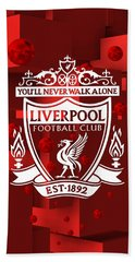 Hand Towel featuring the digital art Tribute To Liverpool 3 by Alberto RuiZ