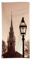 Trinity Church Newport With Lamp Hand Towel