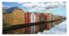 Trondheim Coastal View Bath Towel