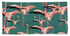 Tropical Flamingo  Hand Towel