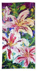 Tropical Flowers Bath Towel