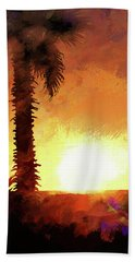 Tropical Sunset Hand Towel by Scott Cameron
