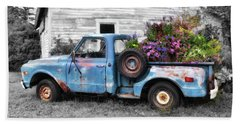 Truckbed Bouquet Hand Towel