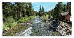 Truckee River In Tahoe City Bath Towel