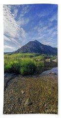 Tryfan Mountain Bath Towel by Ian Mitchell
