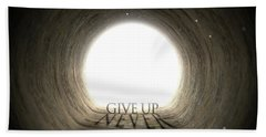 Tunnel Text And Shadow Concept Hand Towel