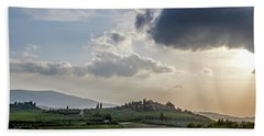 Bath Towel featuring the photograph Tuscan Hillside by Jean Haynes