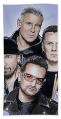 U2 Hand Towel by Melanie D