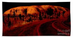 Uluru Sunrise Bath Towel
