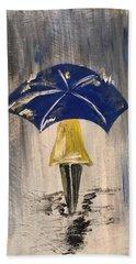 Umbrella Girl Hand Towel