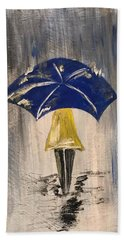 Umbrella Girl Bath Towel