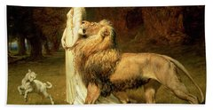 Una And Lion From Spensers Faerie Queene Hand Towel