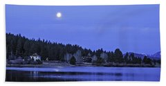 Bath Towel featuring the photograph Under A Winter Moon by Nancy Marie Ricketts
