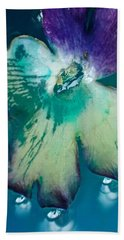 Underwaterflower Abstraction 6 Hand Towel by Lorella Schoales