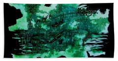 Hand Towel featuring the painting Greenery Duars by Tamal Sen Sharma