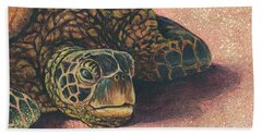 Hand Towel featuring the painting Honu At Rest by Darice Machel McGuire