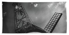 Unusual View Of Windmill - St Annes - England Hand Towel