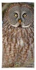 Up Close And Personal Bath Towel by Heather King