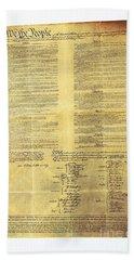 U.s Constitution Hand Towel