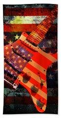 Usa Strat Guitar Music Hand Towel