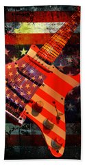 Usa Strat Guitar Music Bath Towel