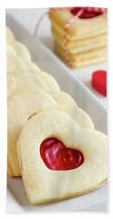 Hand Towel featuring the photograph Valentines Day Treats by Teri Virbickis